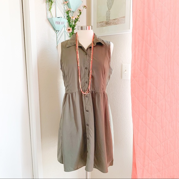 Maurices Dresses & Skirts - Maurices   Olive Collared Button-Up Dress L